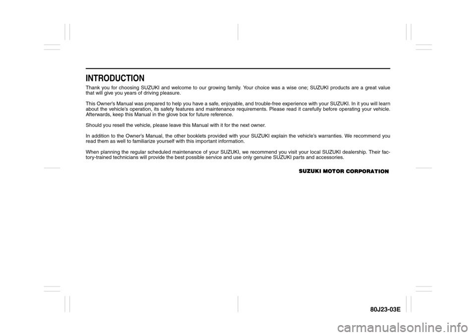 SUZUKI SX4 2010 1.G Owners Manual, Page 7