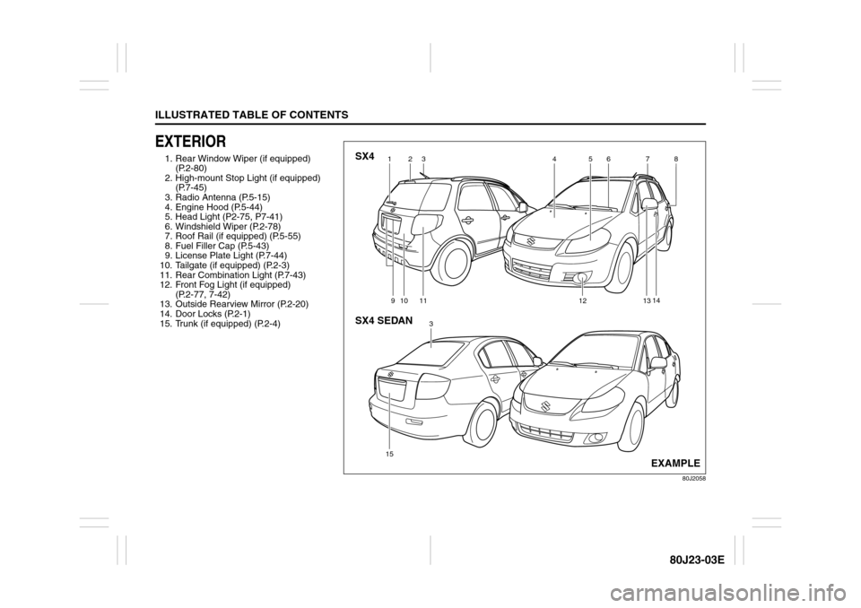 SUZUKI SX4 2010 1.G Owners Manual, Page 10