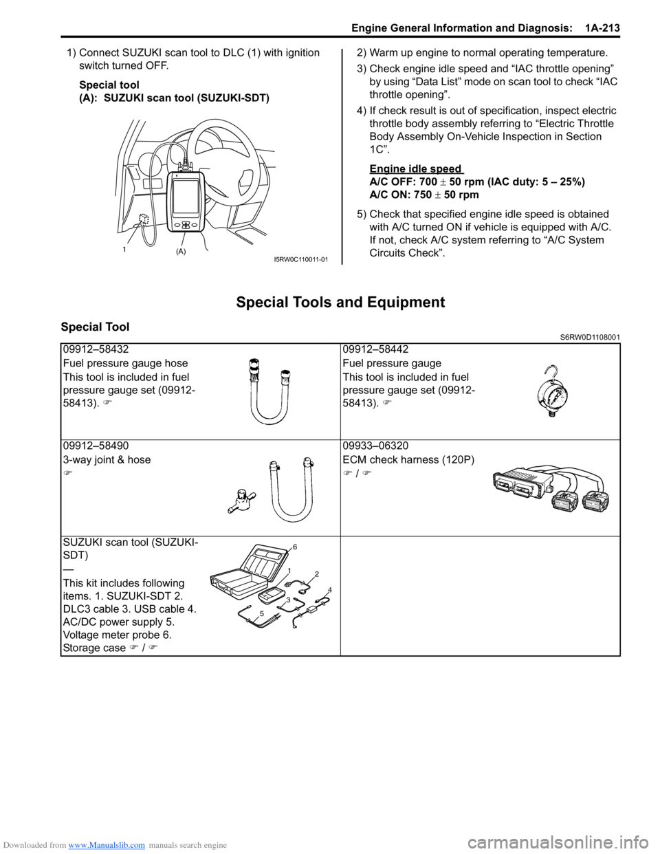 Suzuki Sx4 2006 1g Service Workshop Manual 3 Way Switch Diagnosis Page 263 Of 1556