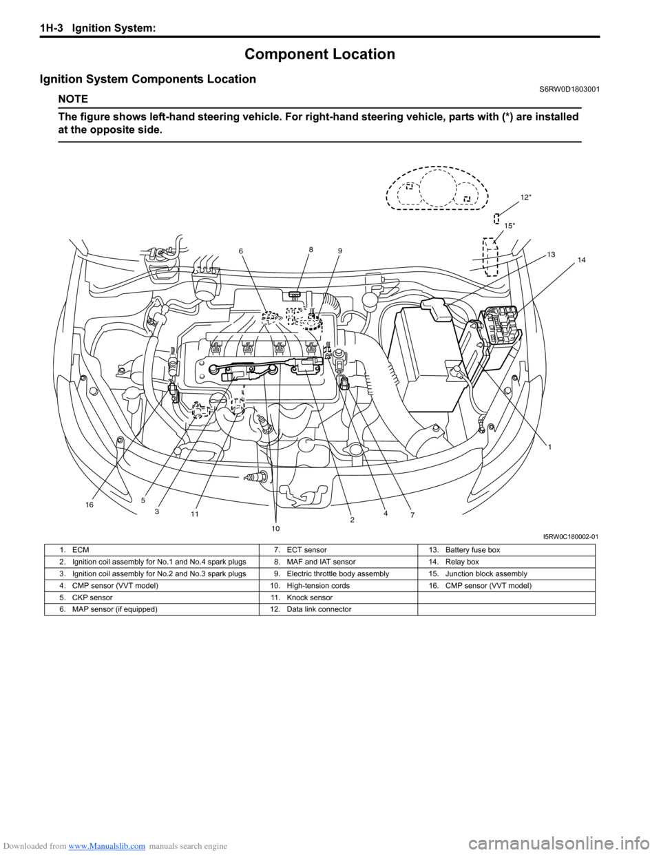 SUZUKI SX4 2006 1.G Service Workshop Manual, Page 398