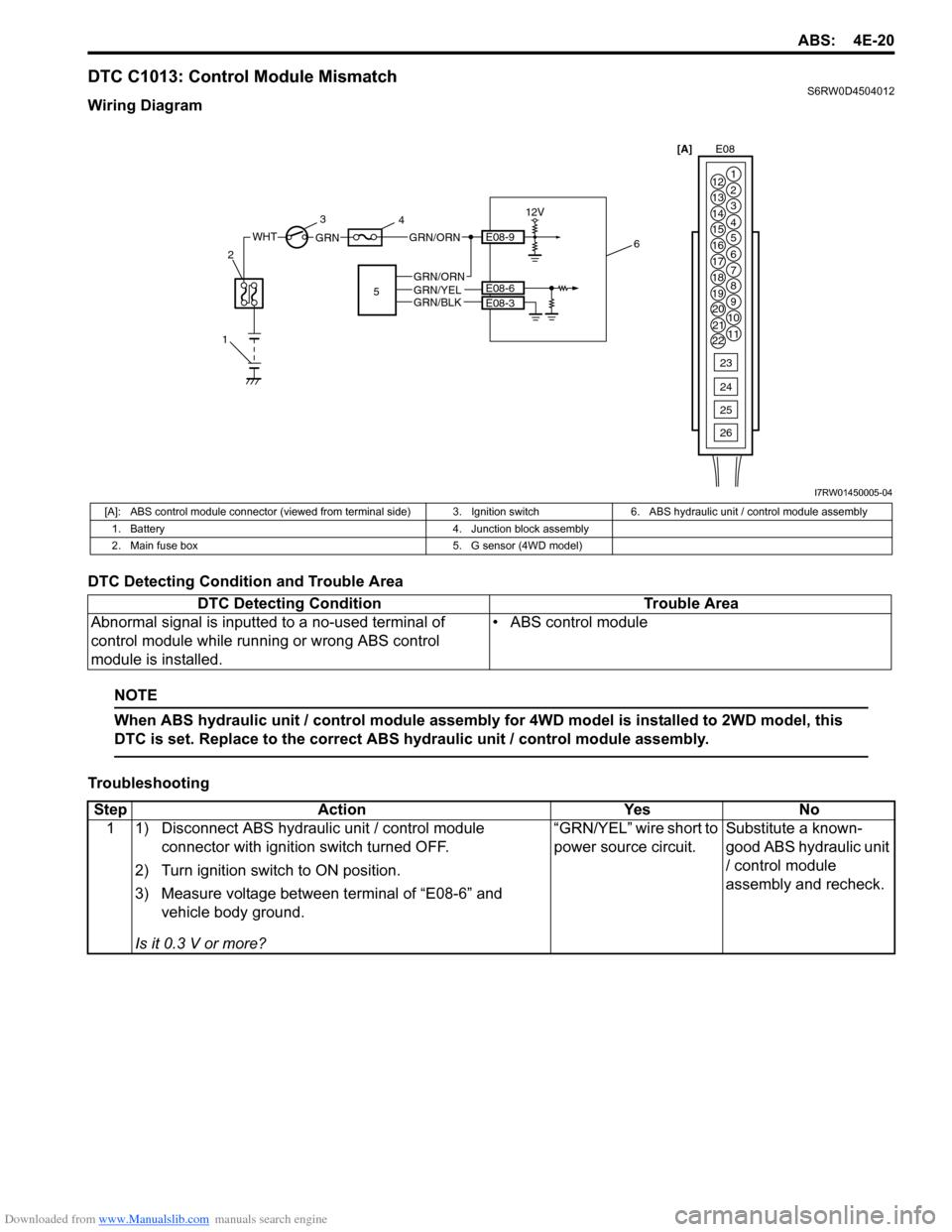 Abs Suzuki Sx4 2006 1g Service Workshop Manual Hydraulic Switch Box Wiring Diagram 2 G Page 625