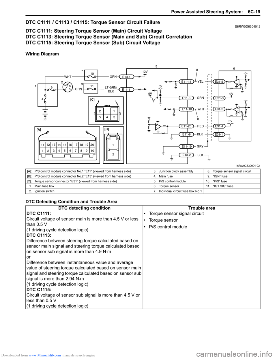 SUZUKI SX4 2006 1.G Service Workshop Manual, Page 899