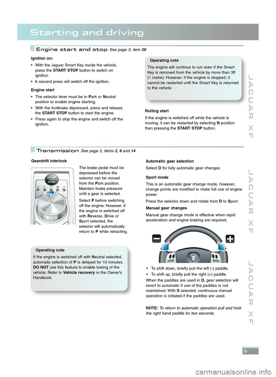 2012 jaguar xf owners manual