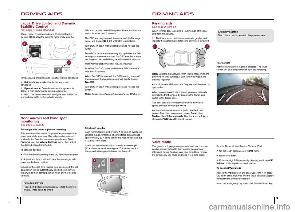 JAGUAR F TYPE 2014 1.G Quick Start Guide, Page 5
