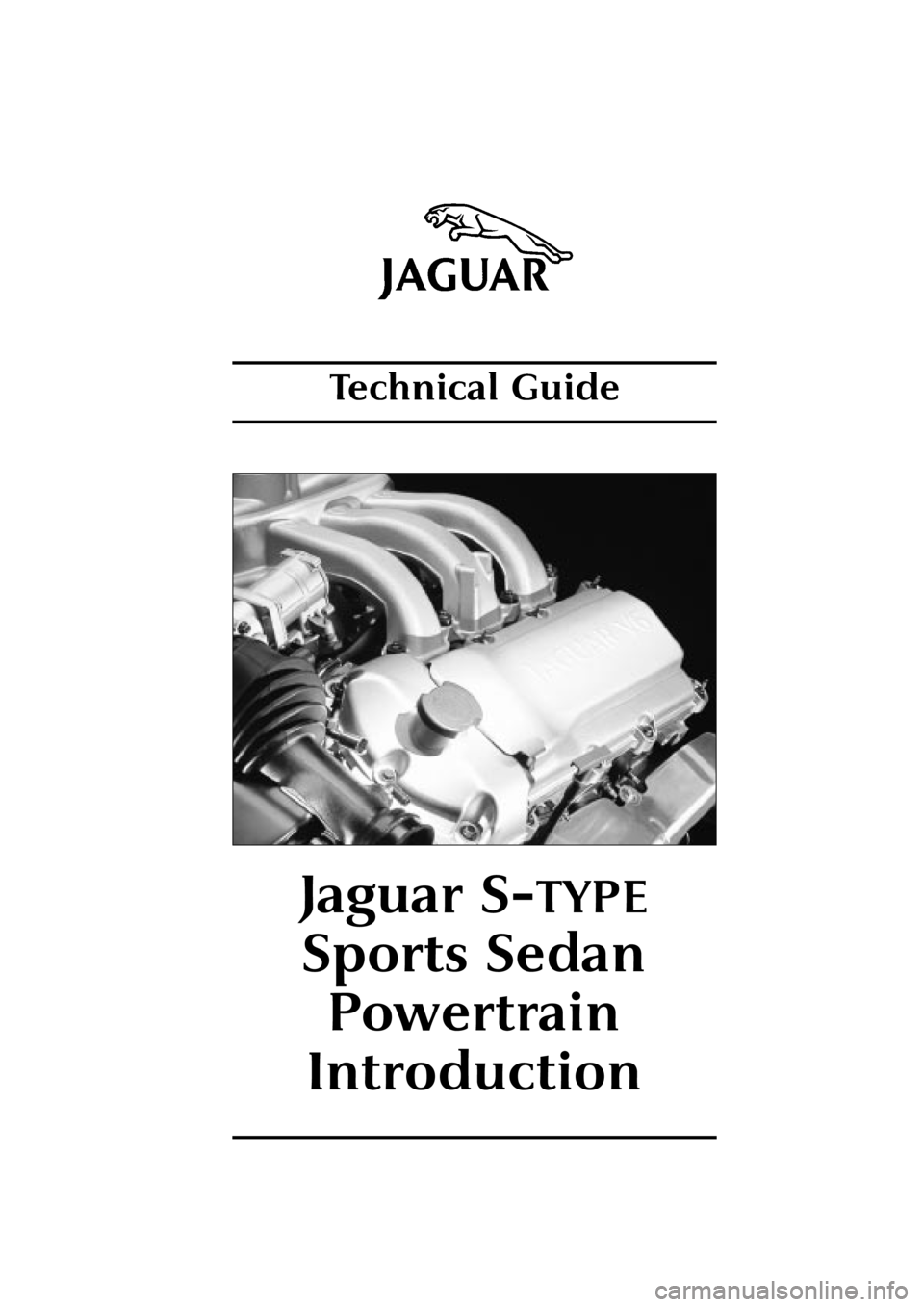 JAGUAR S TYPE 1999 1.G Powertrain Manual, Page 1