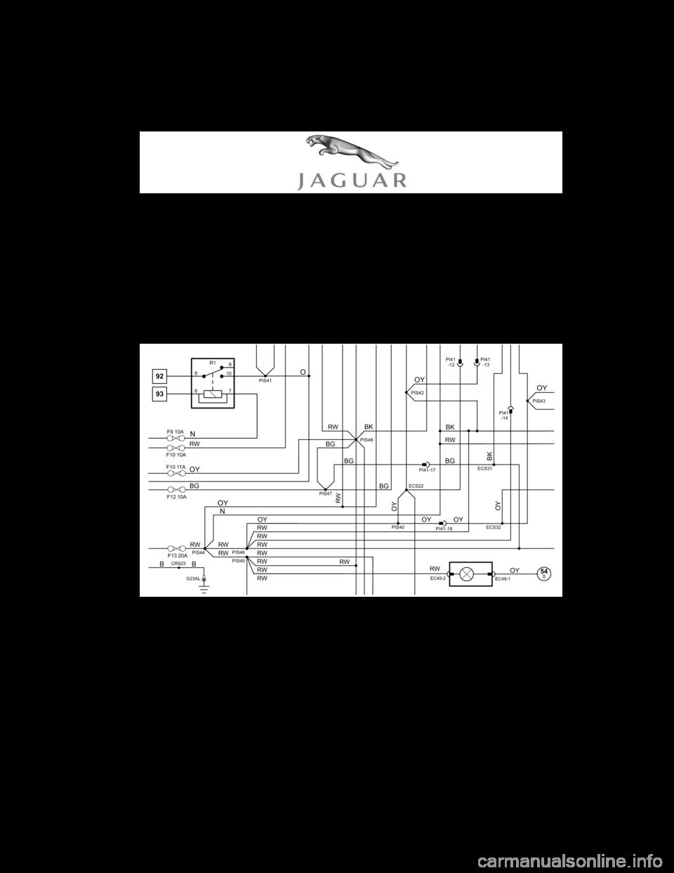 2001 Jaguar S Type Relay Diagram Wiring Schematic