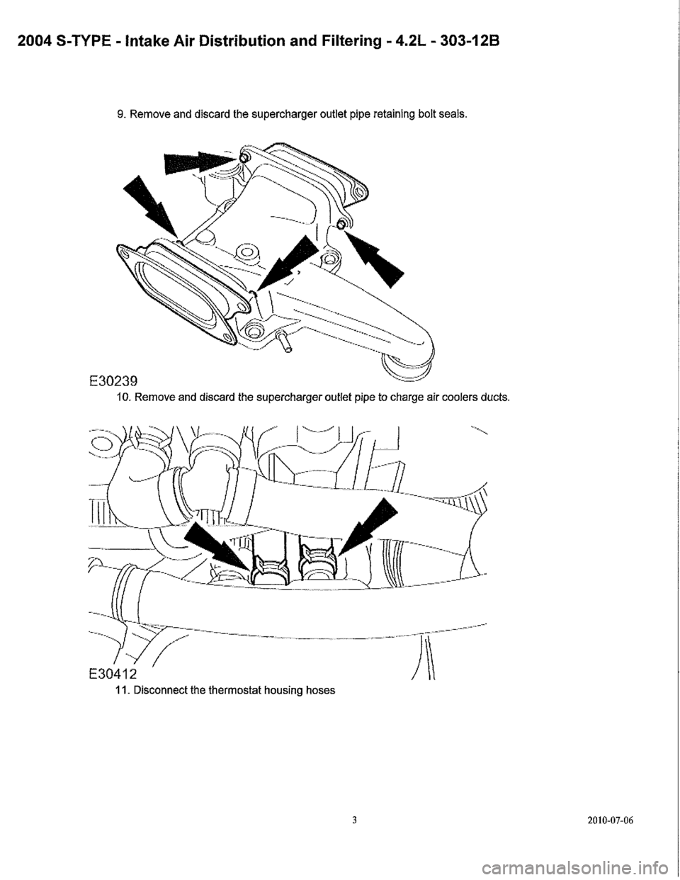 JAGUAR S TYPE 2005 1.G Supercharger Removal And Instalation Manual, Page 5