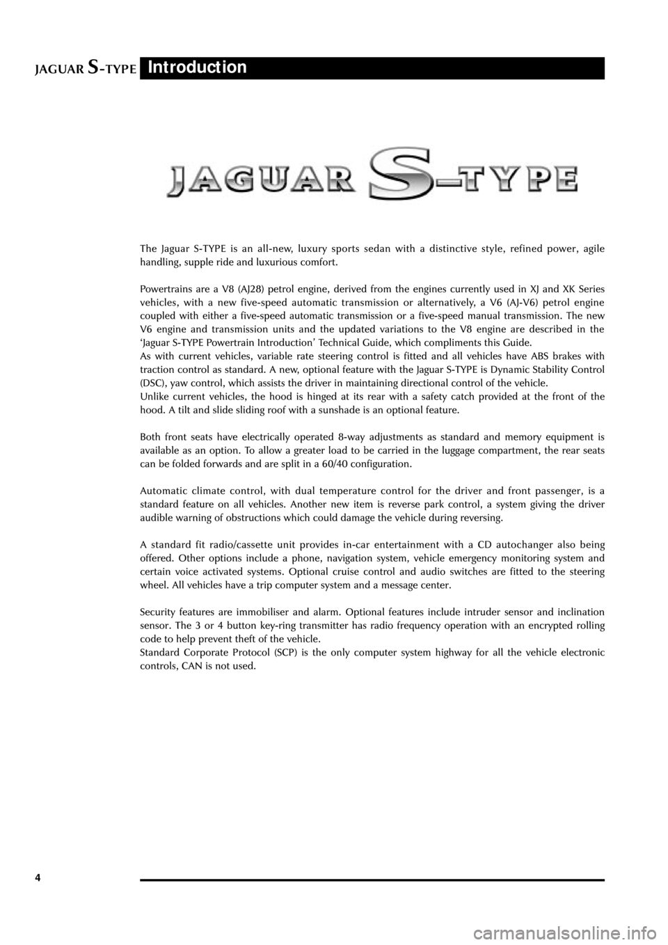 JAGUAR S TYPE 2005 1.G Technical Guide Update, Page 9