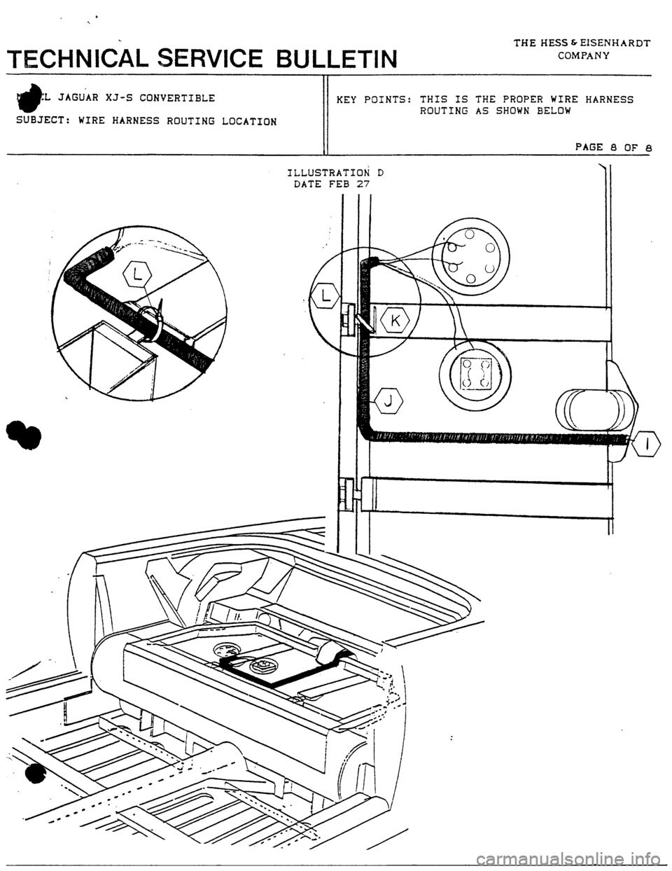 Jaguar Xjs 1980 1g Workshop Manual Xj6 Wiring Harness