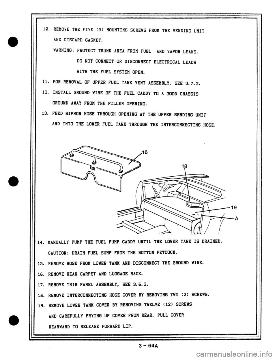 Jaguar Xjs Fuel Tank Wiring Diagram Trusted Diagrams Kia Sedona 1978 1 G Workshop Manual 1994 Xj6 Linkage