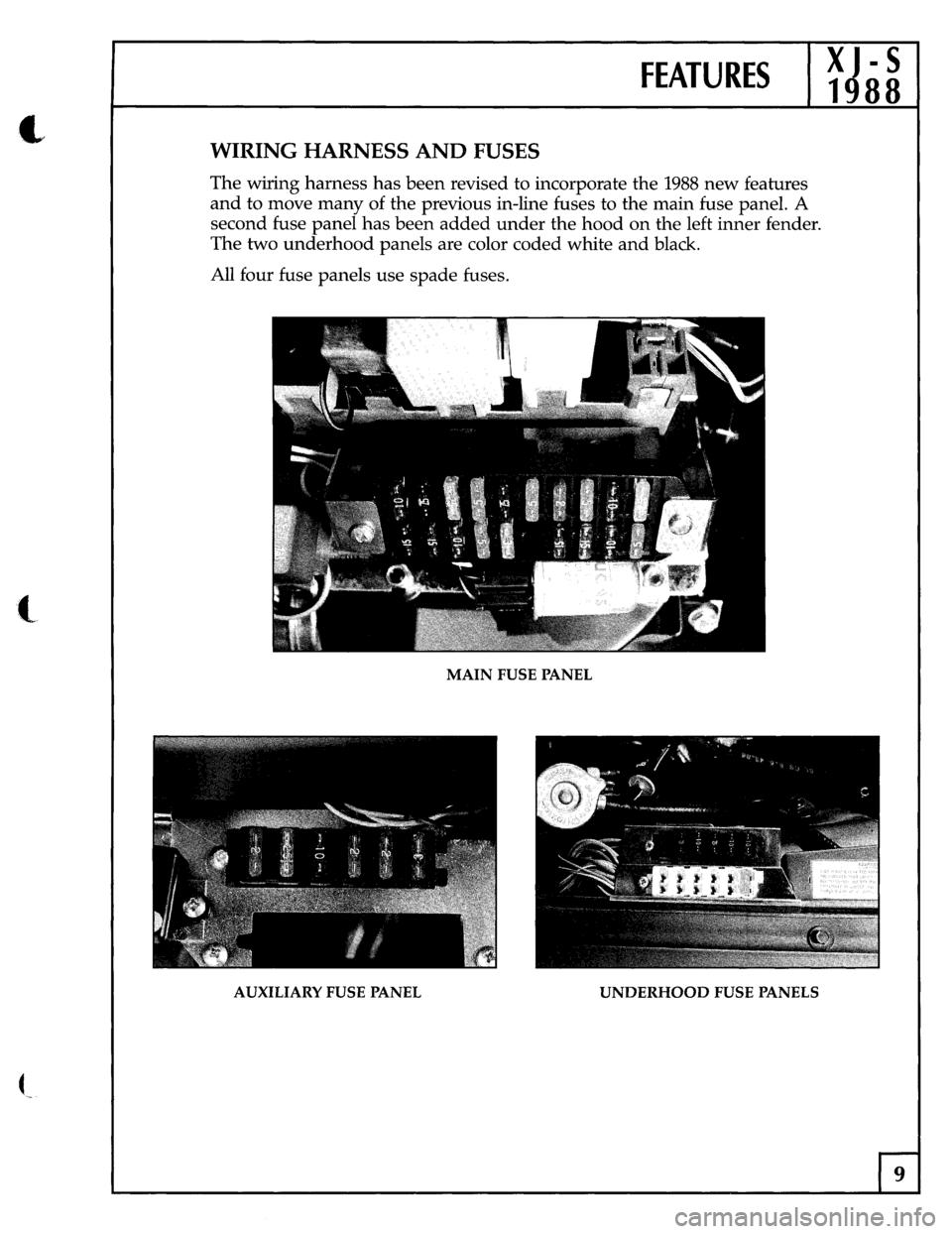Jaguar Xjs 1988 1g Update Manual Xj6 Wiring Harness