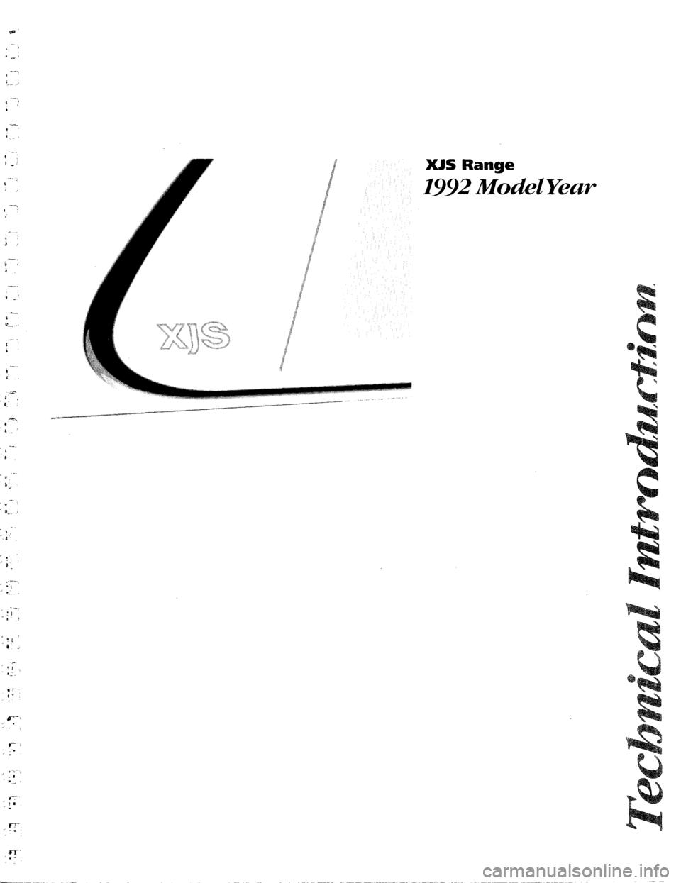 jaguar xjs 1992 1 g technical information manual