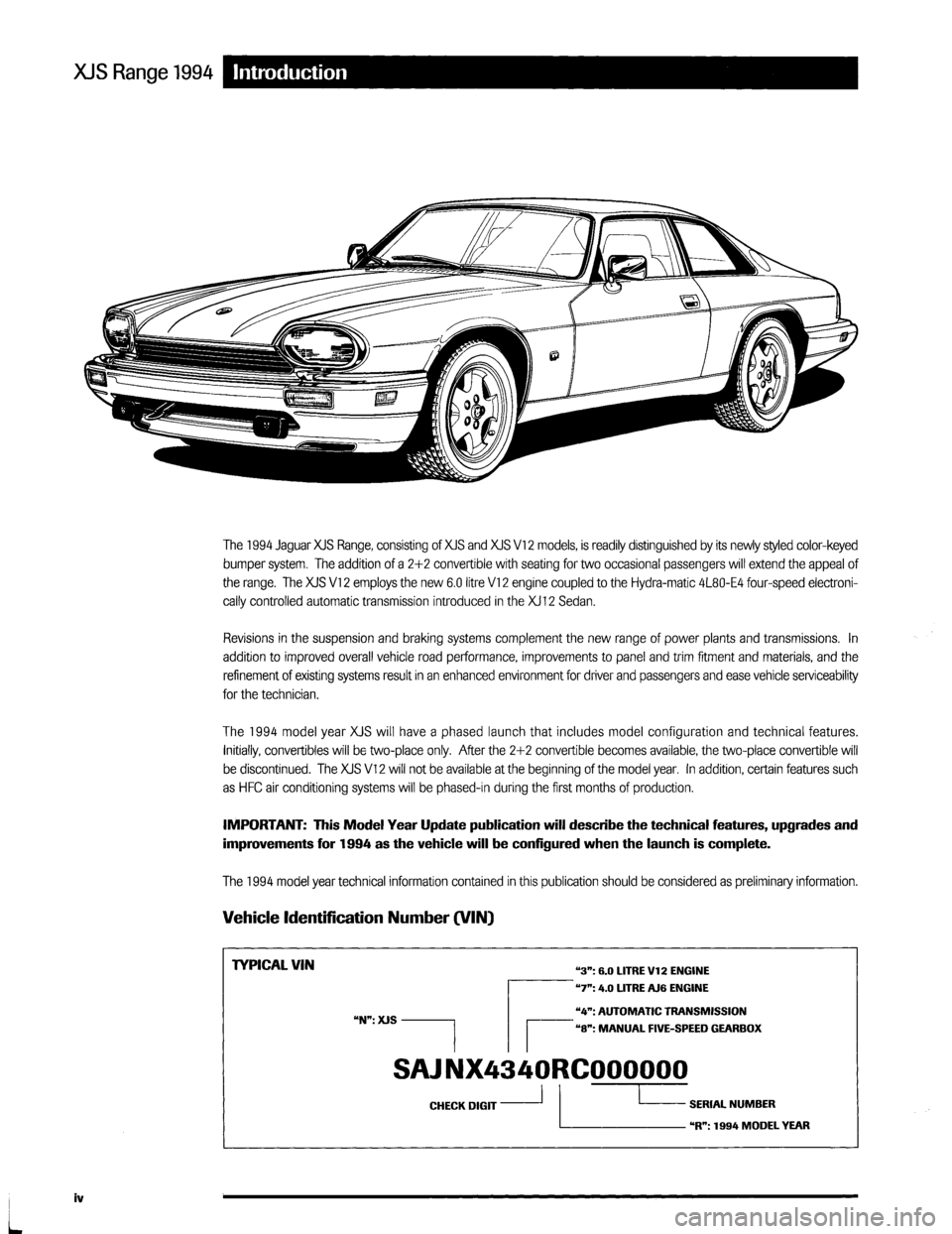 jaguar xjs 1994 2 g update manual. Black Bedroom Furniture Sets. Home Design Ideas
