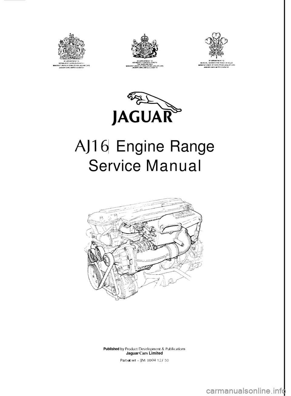 jaguar xj 1994 2 g aj16 engine manual
