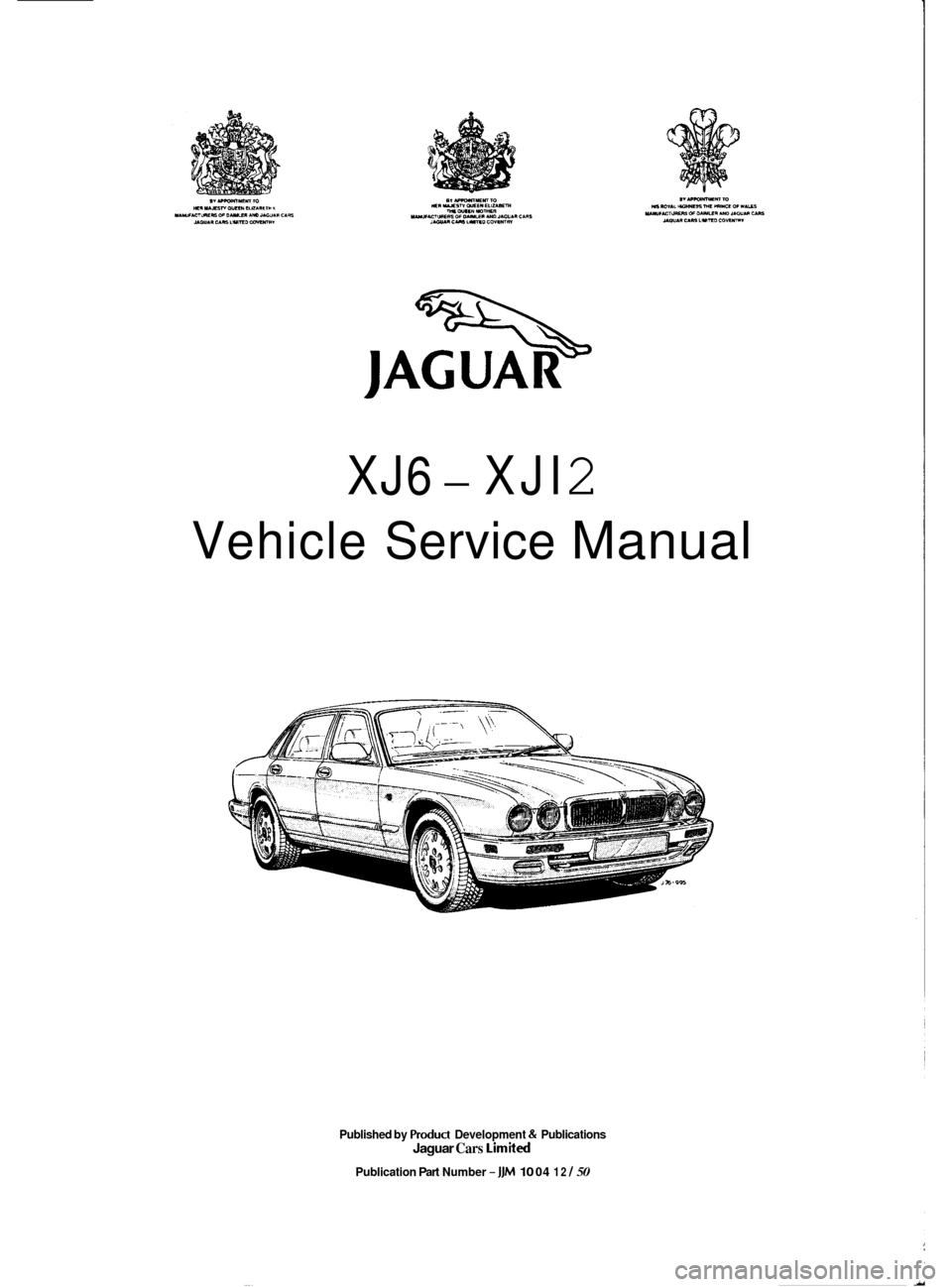 jaguar xj6 1994 2 g workshop manual. Black Bedroom Furniture Sets. Home Design Ideas