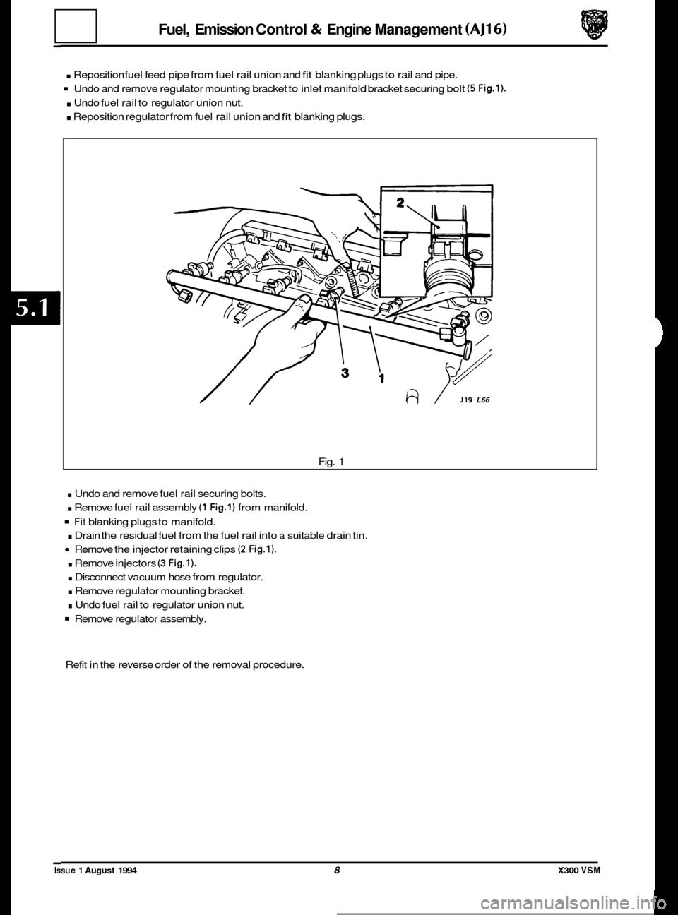 JAGUAR XJ6 1994 2.G Workshop Manual