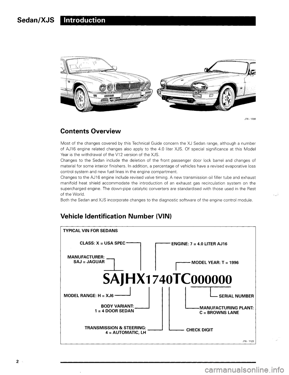 JAGUAR XJ 1995 2.G Update Manual