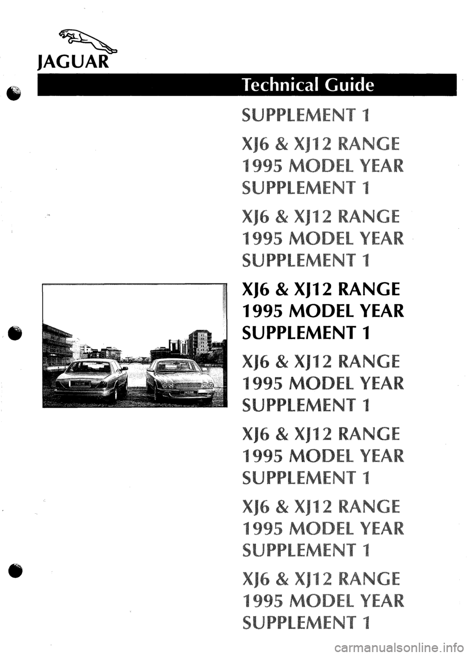 JAGUAR XJ6 1995 2.G Model Year Supplement Manual, Page 1