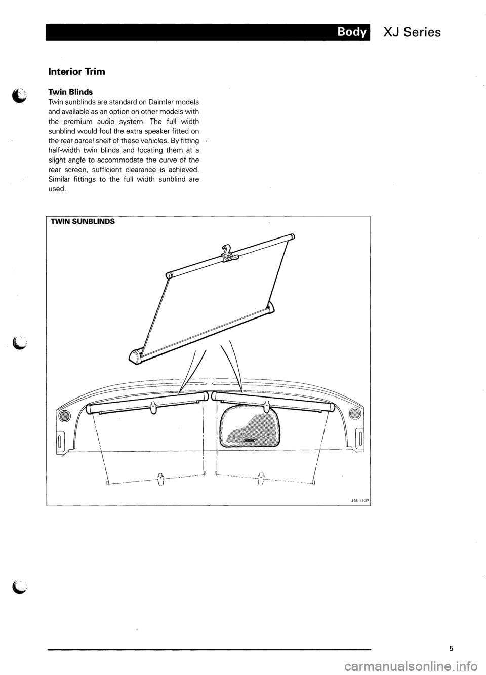 JAGUAR XJ6 1995 2.G Model Year Supplement Manual, Page 8