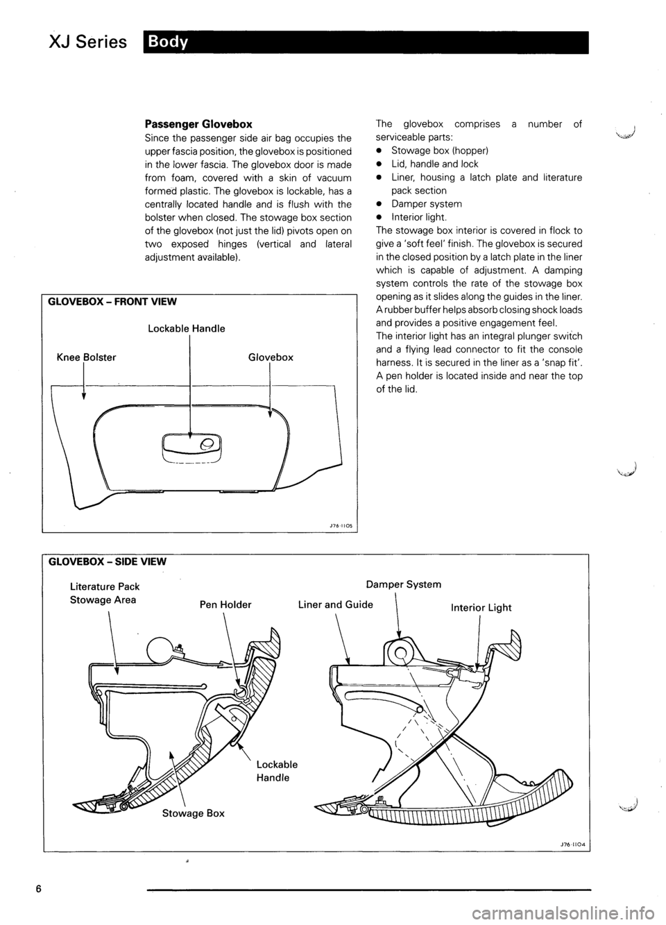 JAGUAR XJ6 1995 2.G Model Year Supplement Manual, Page 9