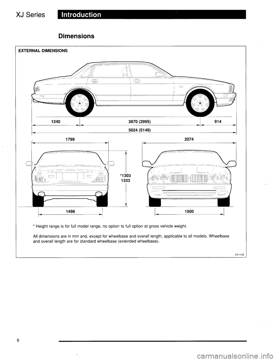 JAGUAR XJ6 1996 2.G Technical Guide