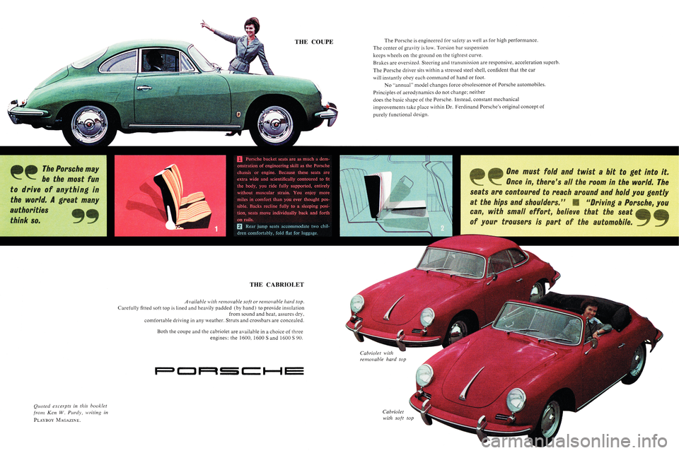 PORSCHE 356 1961 B / 1.G Owners Manual, Page 2