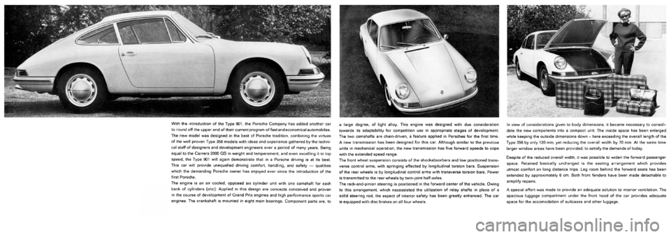 PORSCHE 911 1963 901 Information Manual, Page 3