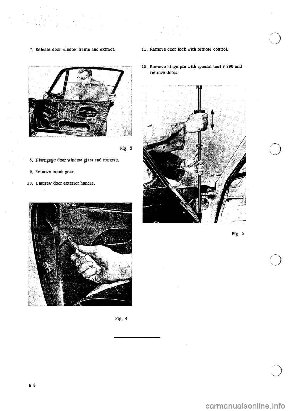 PORSCHE 911 1965 1.G Body Parts 2 Workshop Manual, Page 10