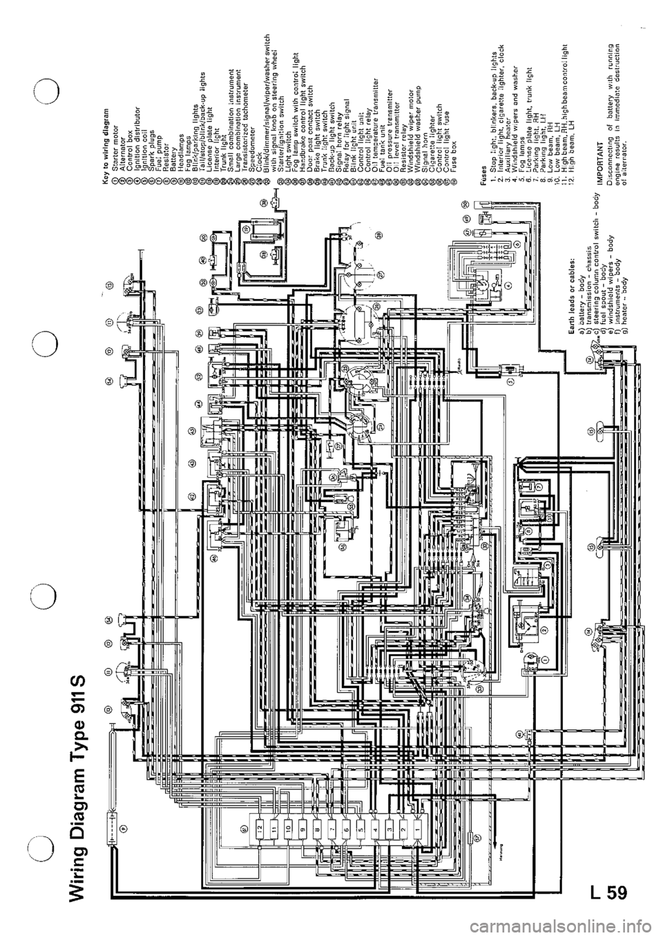 Porsche Wiring Diagram Results Electrical Diagrams Lights Schematic Evinrude Boat Motor 911 1970 1 G