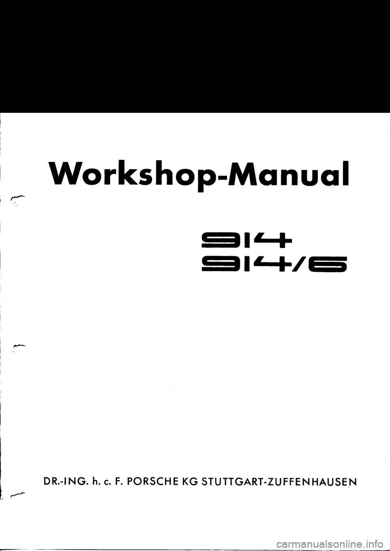 porsche 914 1971 1 g engine 1 workshop manual