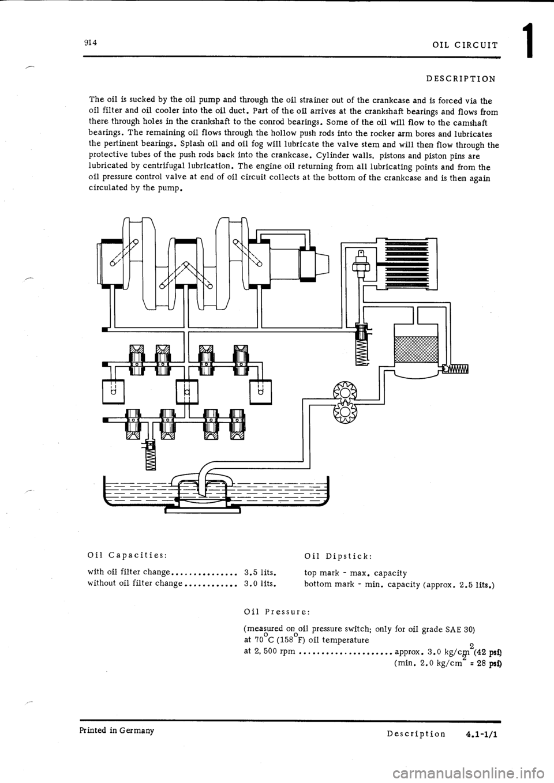 Porsche 914 1969 1g Engine 2 Workshop Manual Type Iv Diagram Page 17