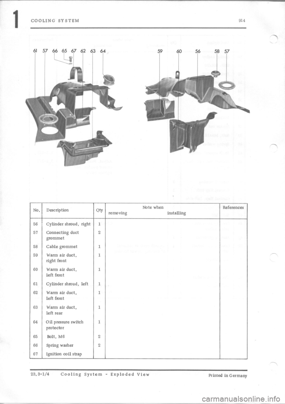 PORSCHE 914 1973 1.G Engine 4 Workshop Manual, Page 2