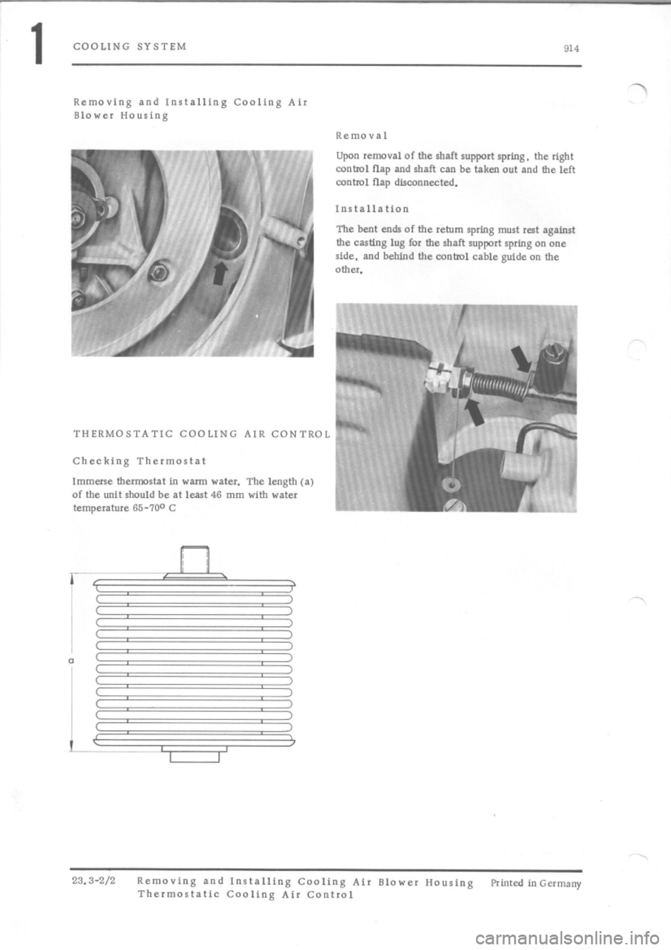 PORSCHE 914 1973 1.G Engine 4 Workshop Manual, Page 4