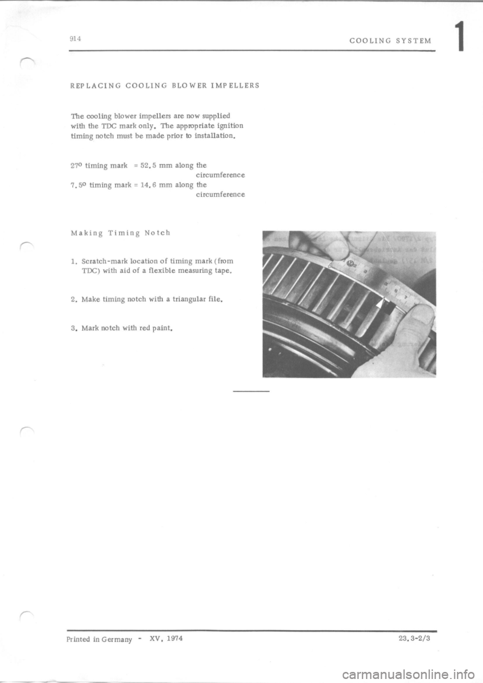 PORSCHE 914 1973 1.G Engine 4 Workshop Manual, Page 5