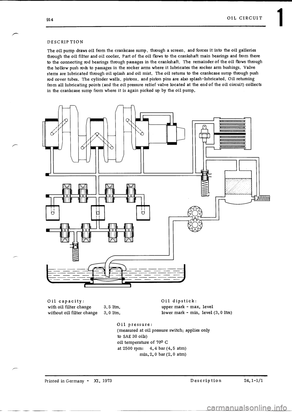 PORSCHE 914 1973 1.G Engine 4 Workshop Manual, Page 6