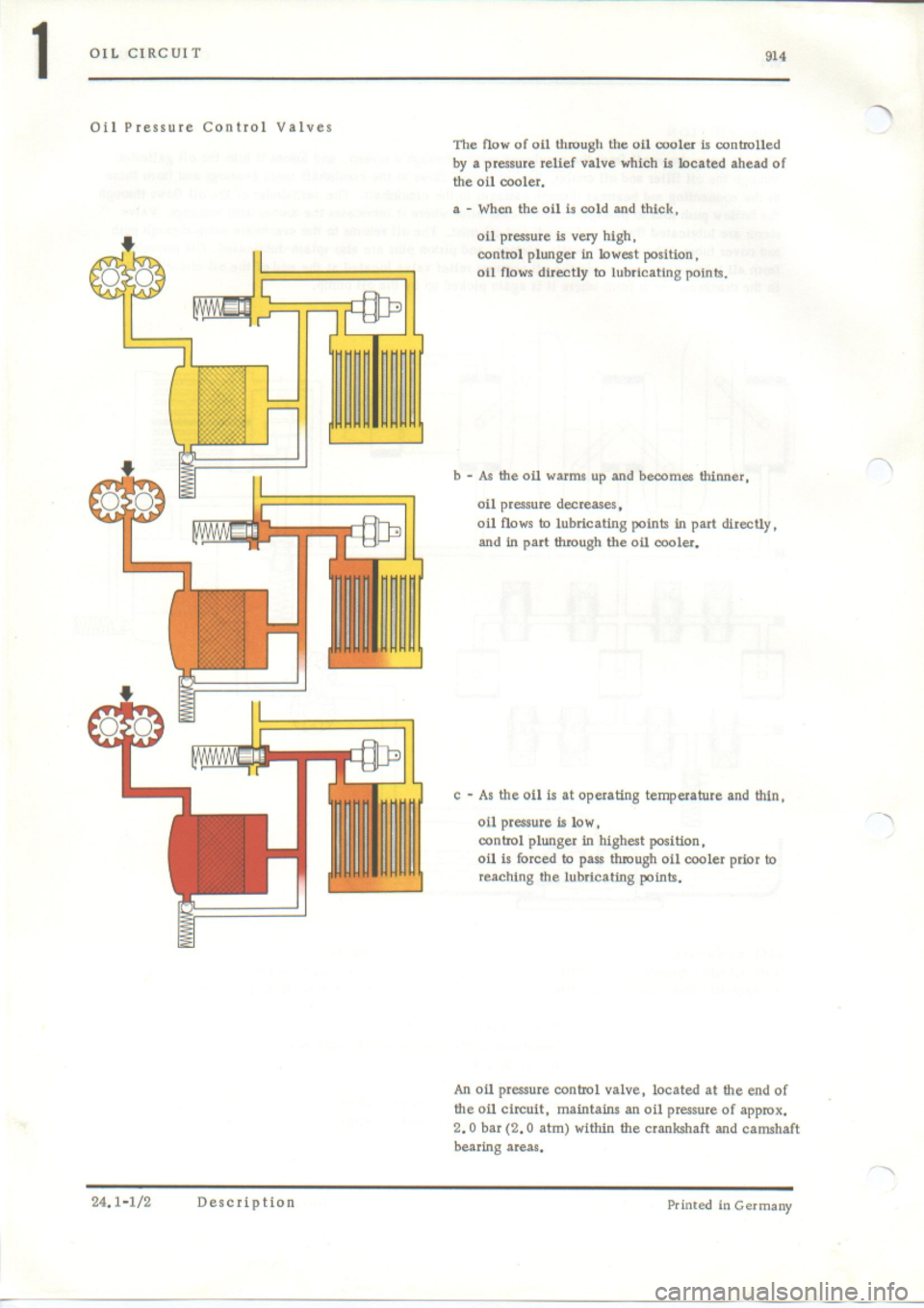 PORSCHE 914 1973 1.G Engine 4 Workshop Manual, Page 7
