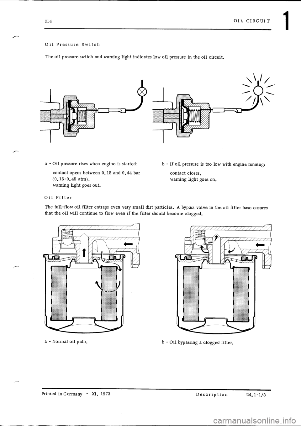 PORSCHE 914 1973 1.G Engine 4 Workshop Manual, Page 8