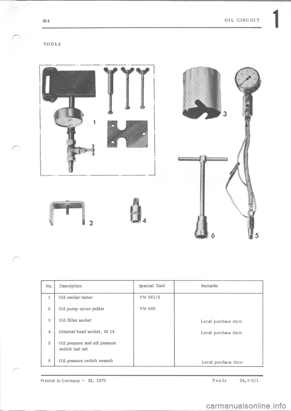 PORSCHE 914 1973 1.G Engine 4 Workshop Manual, Page 9