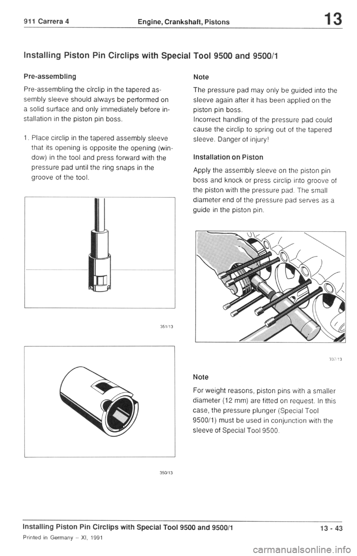 Porsche 964 1990 2g Service Workshop Manual Engine Diagram