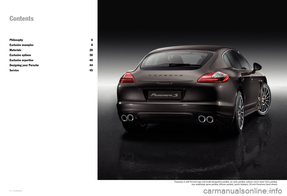 PORSCHE PANAMERA EXCLUSIVE 2011 1.G Information Manual, Page 3