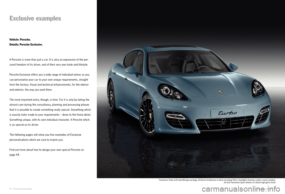 PORSCHE PANAMERA EXCLUSIVE 2011 1.G Information Manual, Page 5