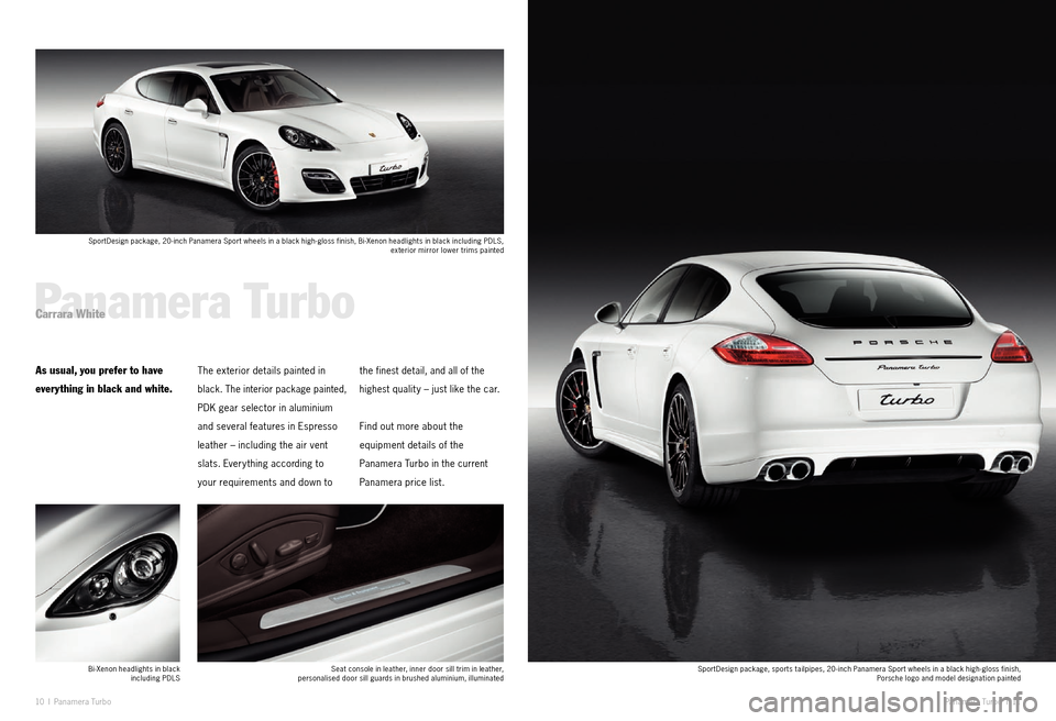 PORSCHE PANAMERA EXCLUSIVE 2011 1.G Information Manual, Page 6