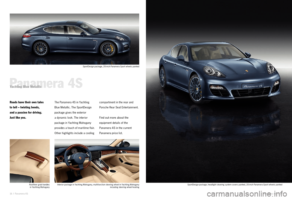 PORSCHE PANAMERA EXCLUSIVE 2011 1.G Information Manual, Page 9