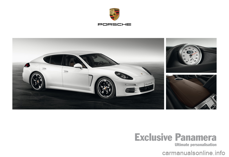 PORSCHE PANAMERA EXCLUSIVE 2014 1.G Information Manual, Page 1
