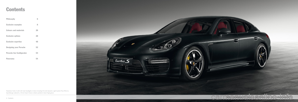 PORSCHE PANAMERA EXCLUSIVE 2014 1.G Information Manual, Page 2
