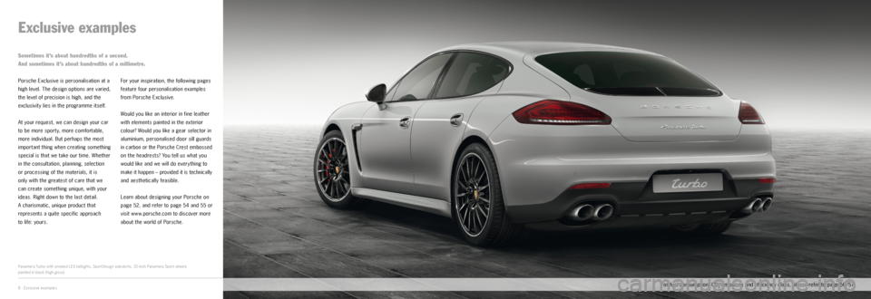 PORSCHE PANAMERA EXCLUSIVE 2014 1.G Information Manual, Page 4