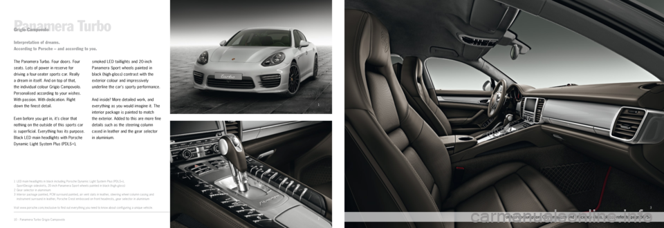 PORSCHE PANAMERA EXCLUSIVE 2014 1.G Information Manual, Page 5