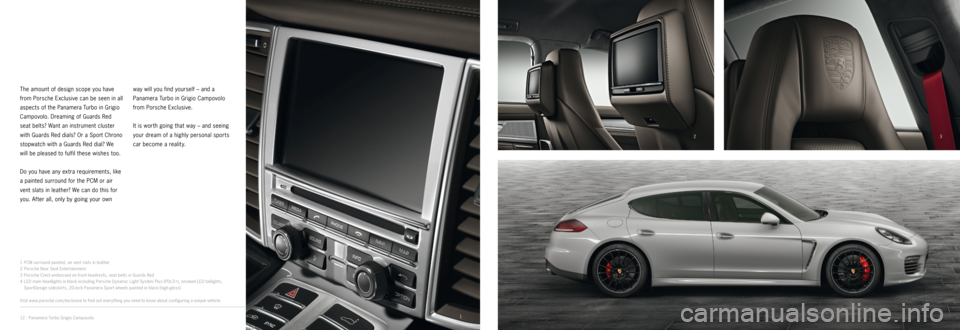 PORSCHE PANAMERA EXCLUSIVE 2014 1.G Information Manual, Page 6