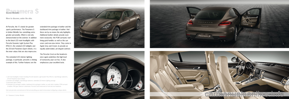 PORSCHE PANAMERA EXCLUSIVE 2014 1.G Information Manual, Page 7