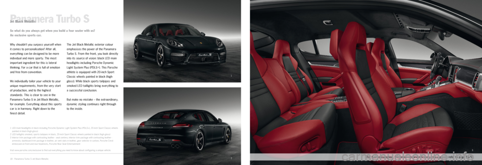 PORSCHE PANAMERA EXCLUSIVE 2014 1.G Information Manual, Page 9